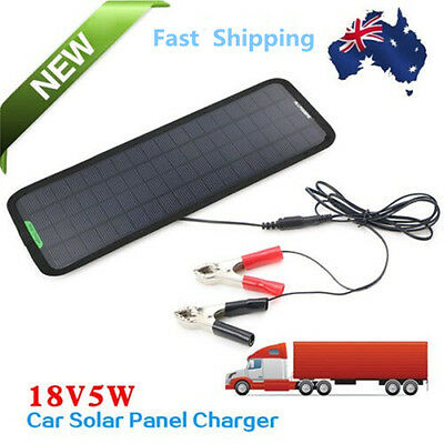 18V5W Solar Car Boat Power Solar Panel Battery Charger for Multi Purpose AU