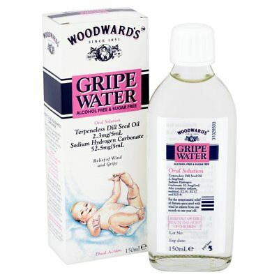 WOODWARDS GRIPE WATER ALCOHOL FREE & SUGAR FREE ORAL SOLUTION 150ml THE BEST