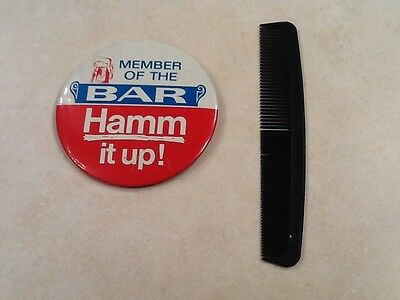 Vintage Hamms beer button COOL!