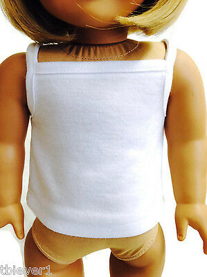 "White Tank Top Shirt made for 18"" American Girl Doll Clothes"