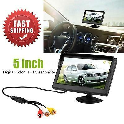 """HOT 5"""" Digital Color TFT LCD Car Reverse Monitor for Rearview Camera DVD VCR"""