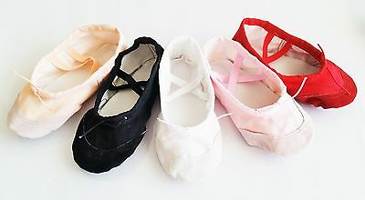 Canvas Ballet shoes US sizes for toddlers, kids, adults