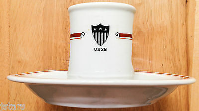 circa 1917 - 1934 UNITED STATES SHIPPING BOARD DINING ROOM MATCH HOLDER, USSB