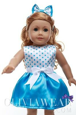 American girl doll clothes handmade dress Collection #47 Fits 18 inch Dolls