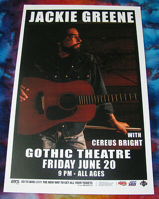 JACKIE GREENE 6.20.14 Live @ the Gothic - Denver 11x17 Show Flyer / Poster
