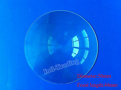 50mm Diameter Fresnel Lens for DIY TV Projection Solar Cooker &40mm Focal Length