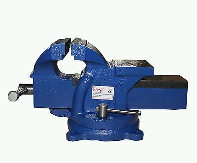 FoxHunter 100mm Bench Vice Vise 4 Inch Jaw Clamp Swivel Base for Workbench Table
