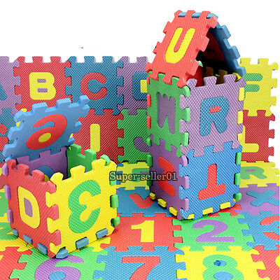 36PC Puzzle Kid Educational Toy Early Study Toy Alphabet Letter Numeral Foam Mat