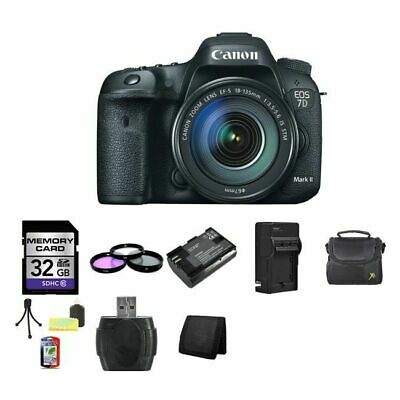 Canon EOS 7D Mark II 20.2MP Digital SLR Camera w/18-135mm Lens 32GB Package