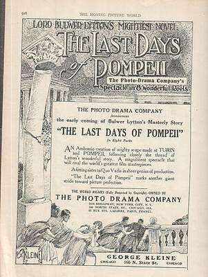 Fernanda Negri Pouget 1913 Ad- The Last Days Of Pompeii/spectacle