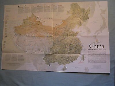 CHINA MAP + THE FORBIDDEN CITY National Geographic May 200
