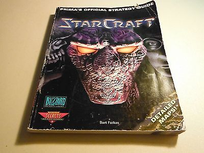 STARCRAFT BLIZZARD PRIMA OFFICIAL STRATEGY GUIDE EX CONDITION-w