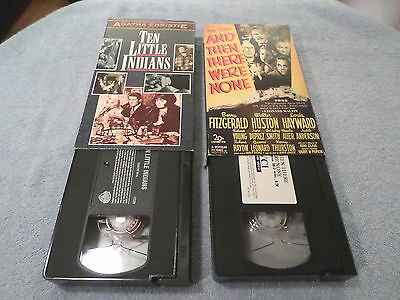 LOT OF 2 -Ten Little Indians - 1965 - & And Then There Were None- 1945- (2 VHS)