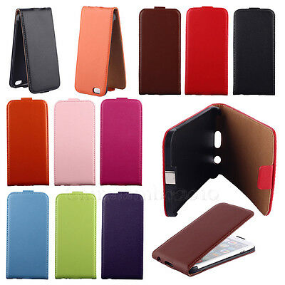 Deluxe Flip Magnetic Faux Leather Pouch Hard Protect Skin Protector Case Cover