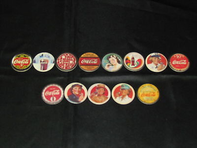 Used Coca Cola pogs from Series 1 & 2 collection