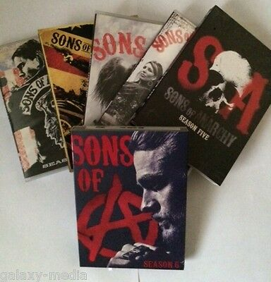 NEW! Sons of Anarchy Seasons 1-6 Bundle Complete 1,2,3,4,5,6 (25-DVD) C. Hunnam
