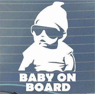 COOL Baby on Board window STICKER DECAL VAN CAR COLOUR DUB JDM
