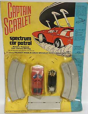 Captain Scarlet : Battery Operated Spectrum Patrol Car  With Track Tri-Ang (Mn)