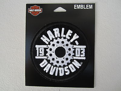 "Harley Davidson Small ""H-D Sprocket"" Emblem Patch"