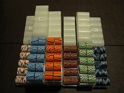 1100 Aces Casino (Paulson) poker chips - Excellent condition
