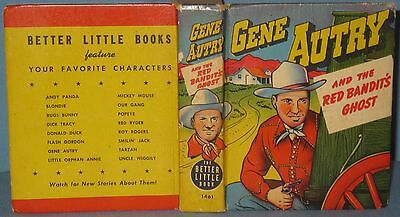 Vintage Better Little Book Gene Autry And The Red Bandit's Ghost #1461 Whitman