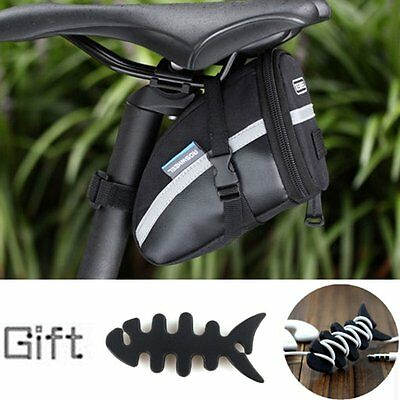 Waterproof Bike Cycling Saddle Bag Seat Pouch Bicycle Tail Rear Pannier + Gift