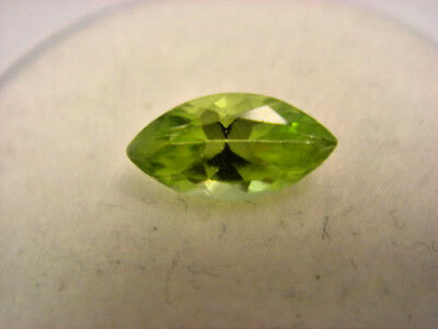 Peridot Marquise Cut Gemstone 7.5 mm x 3.5 mm  0.55 Carat Natural Gem