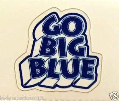 """""""GO BIG BLUE"""" Stick-A Decals (Restickable) Package of 112 NEW/HOT!"""