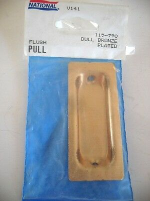 Vintage NOS Dull Satin BRONZE Sliding Cabinet Pocket Door Passage Flush Pulls