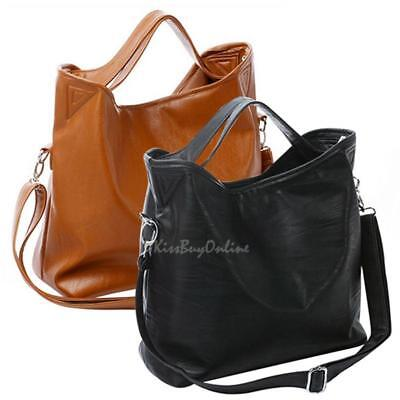Women Lady Vintage Celebrity PU Leather Tote Hobo Crossbody Shoulder Bag Handbag
