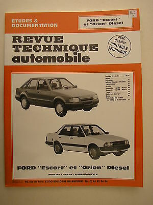 revue technique automobile RTA  Ford ESCORT / ORION diesel berline,break,fourgon