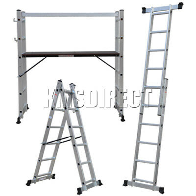 New 5 Way Combination Aluminium Scaffold Platform Extension Multi Purpose Ladder