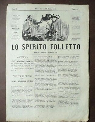 Ballo Danza Scala Milano 1861 Grande Illustrazione Lo Spirito Folletto