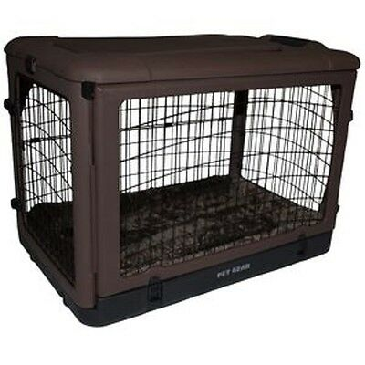 "Pet Gear ""The Other Door"" Steel Crates in 27"",36"", or 42"" size with Bolster Pad"
