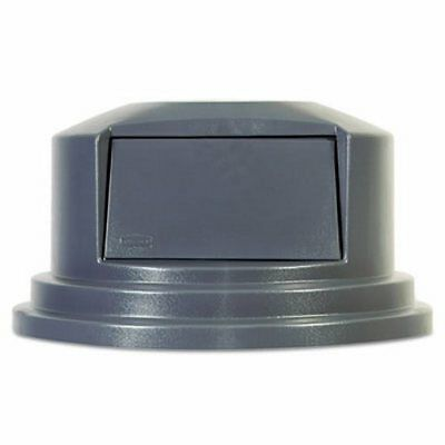Rubbermaid Brute 55 Gallon Dome Top Trash Can Lid, Gray (RCP265788GY)