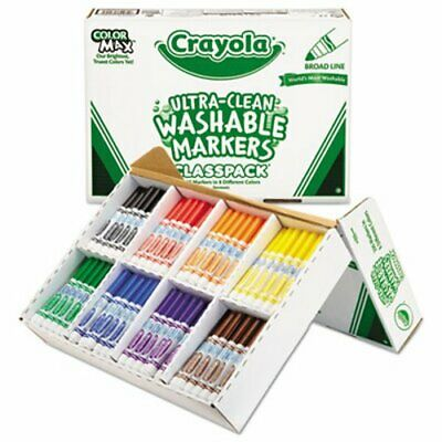 Crayola Washable Classpack Markers, Broad Point, Assorted, 200/Box (CYO588200)