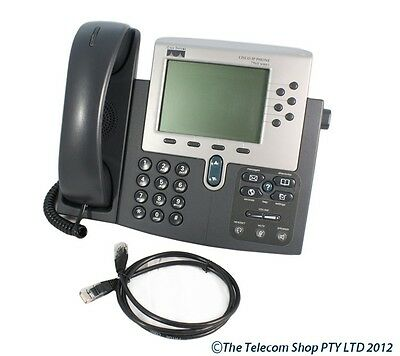 Cisco 7960G IP Phone 7960 G GST & Del Incl with SIP 8.8.02 Firmware - B Grade