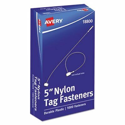 "Avery Tag Fasteners, Weatherproof Nylon, 5"" Long, 1000 per Pack (AVE18800)"