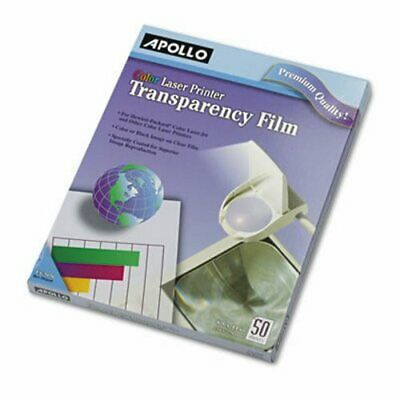Apollo Color Laser Printer/Copier Transparency Film, Letter, 50/BX (APOCG7070)