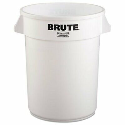 Rubbermaid 2632 Brute 32 Gallon Round Vented Trash Can, White (RCP2632WHI)