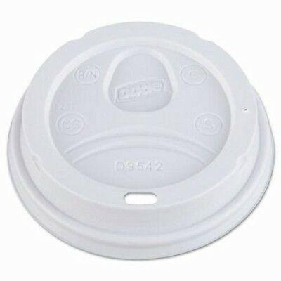Dixie 9542 Plastic Drink-Thru Dome Lids, 1,000 White Lids (DIX D9542)