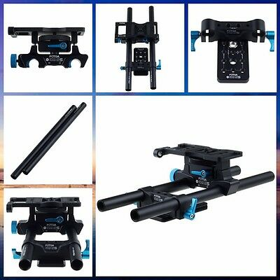 FOTGA DP500 2S 15mm Rod Rail Support Cheese Baseplate Rig for DSLR Follow Focus