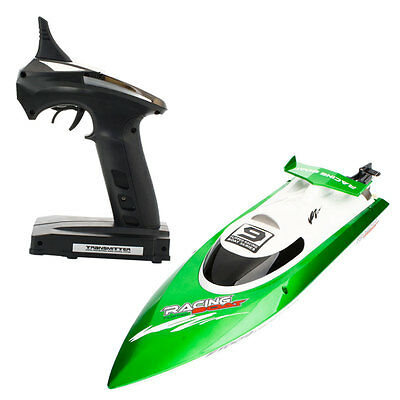Feilun FT009 2.4GHz 4 Channel Water Cooling High Speed Racing RC Boat Green