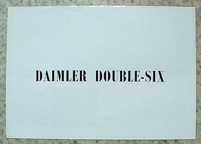 DAIMLER DOUBLE SIX Car Sales Brochure 1975