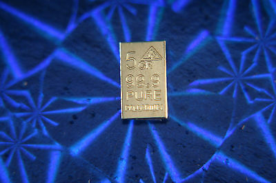 ACB PD SOLID Palladium BULLION MINTED 5GRAIN BAR 99.9 Pure +