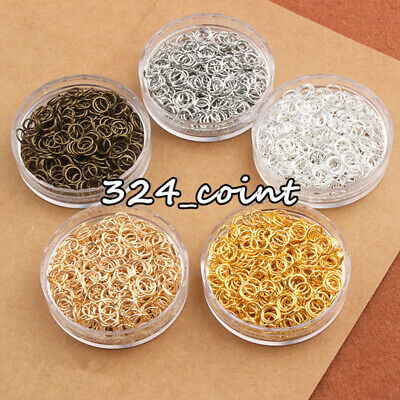 P12 200PC SUPER STRONG Open split Jump Rings Alloy Beads findings 3 color 3size
