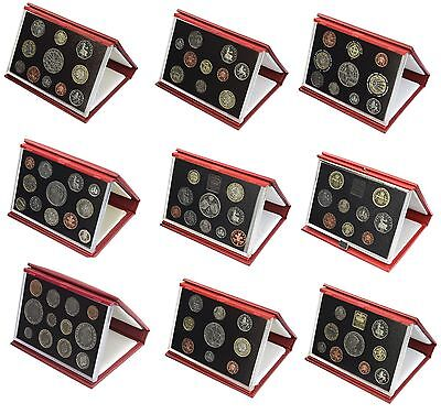 Red Leather Deluxe Royal Mint Proof Sets 1985 to 2007 Choice of Set Birthday