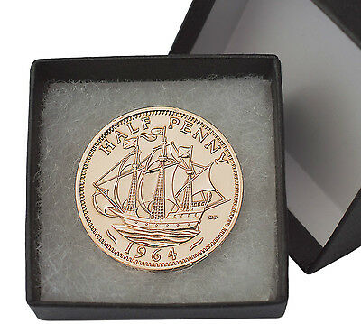 Highly Polished Half Penny Boxed, Birthday Present And  Lucky Charm + Free Post