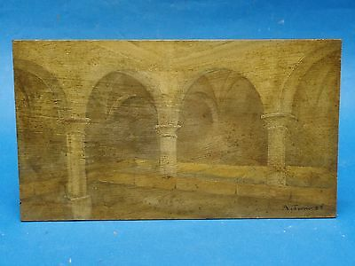 FANTASTIC  SIGNED 1908  ARCHITECTURAL PAINTING of ORAN ALGERIA by A. TURIN