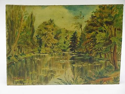 SPELNDID SIGNED 1951 ARDANTE FRANCE LANDSCAPE PAINTING by A. TURIN